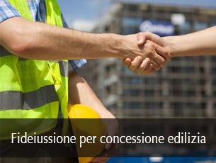 fideiussione per concessione edilizia